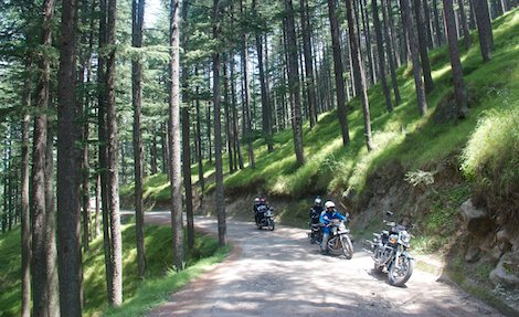 Riding practice in Manali